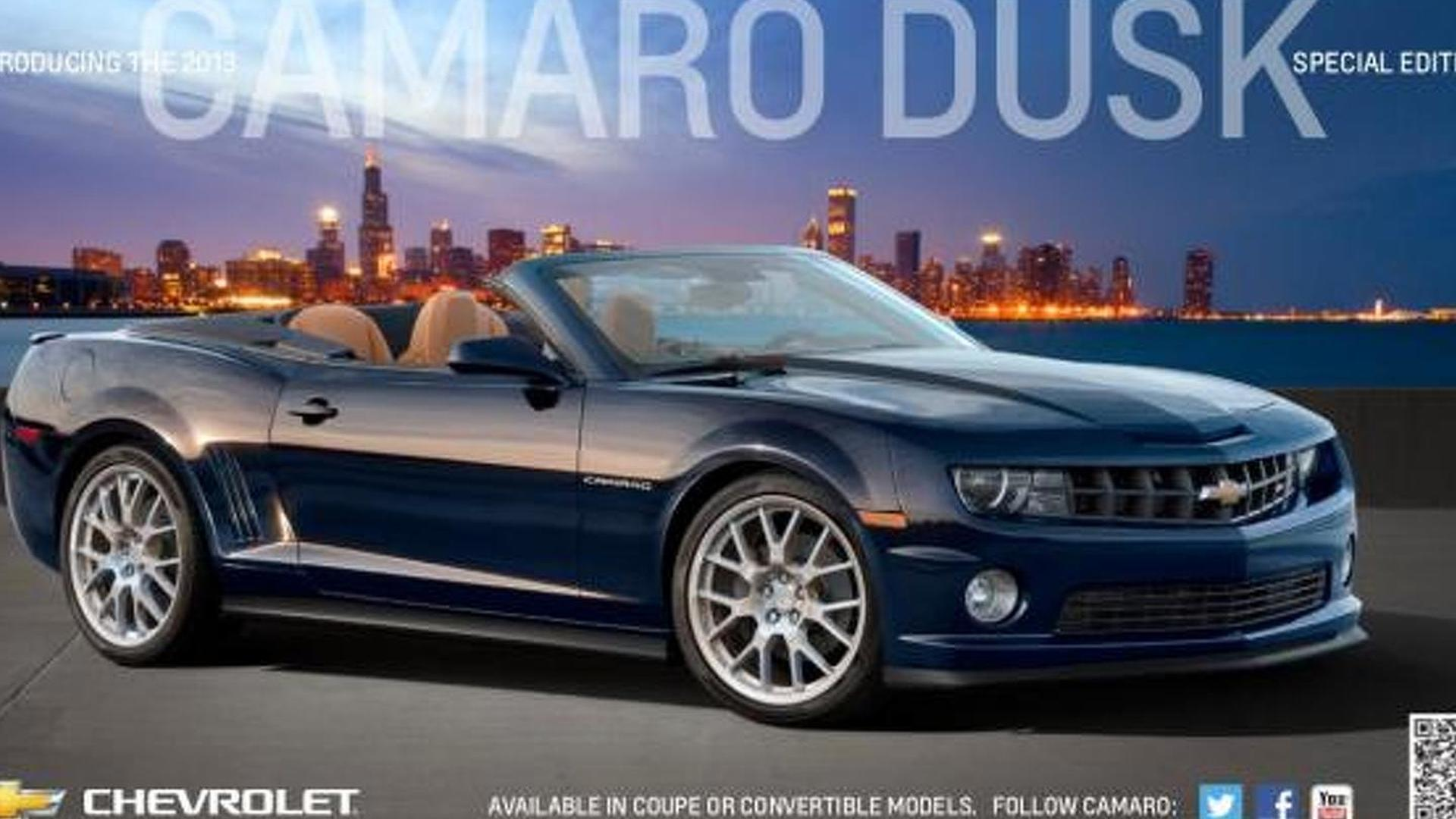 2013 Chevrolet Camaro Dusk Edition announced