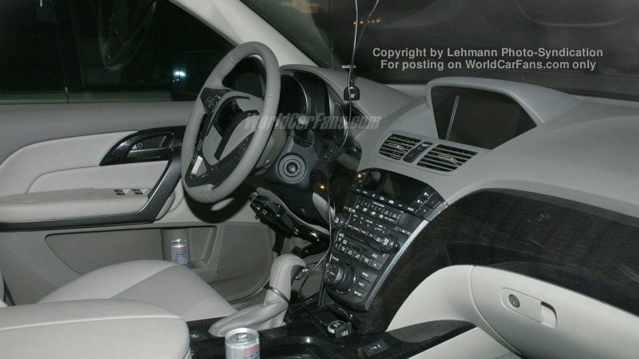 Spy Photos: Acura MDX - Interior