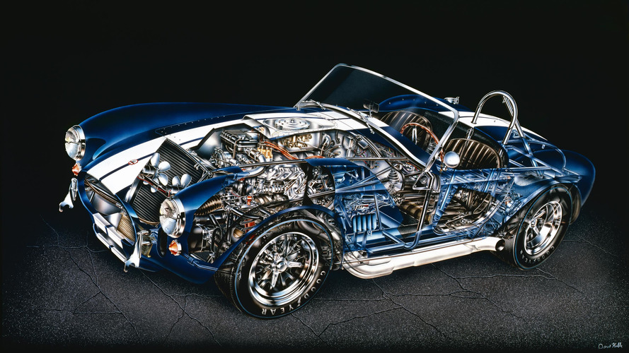 5 incredibly tiny details in Kimble's Shelby Cobra cutaway