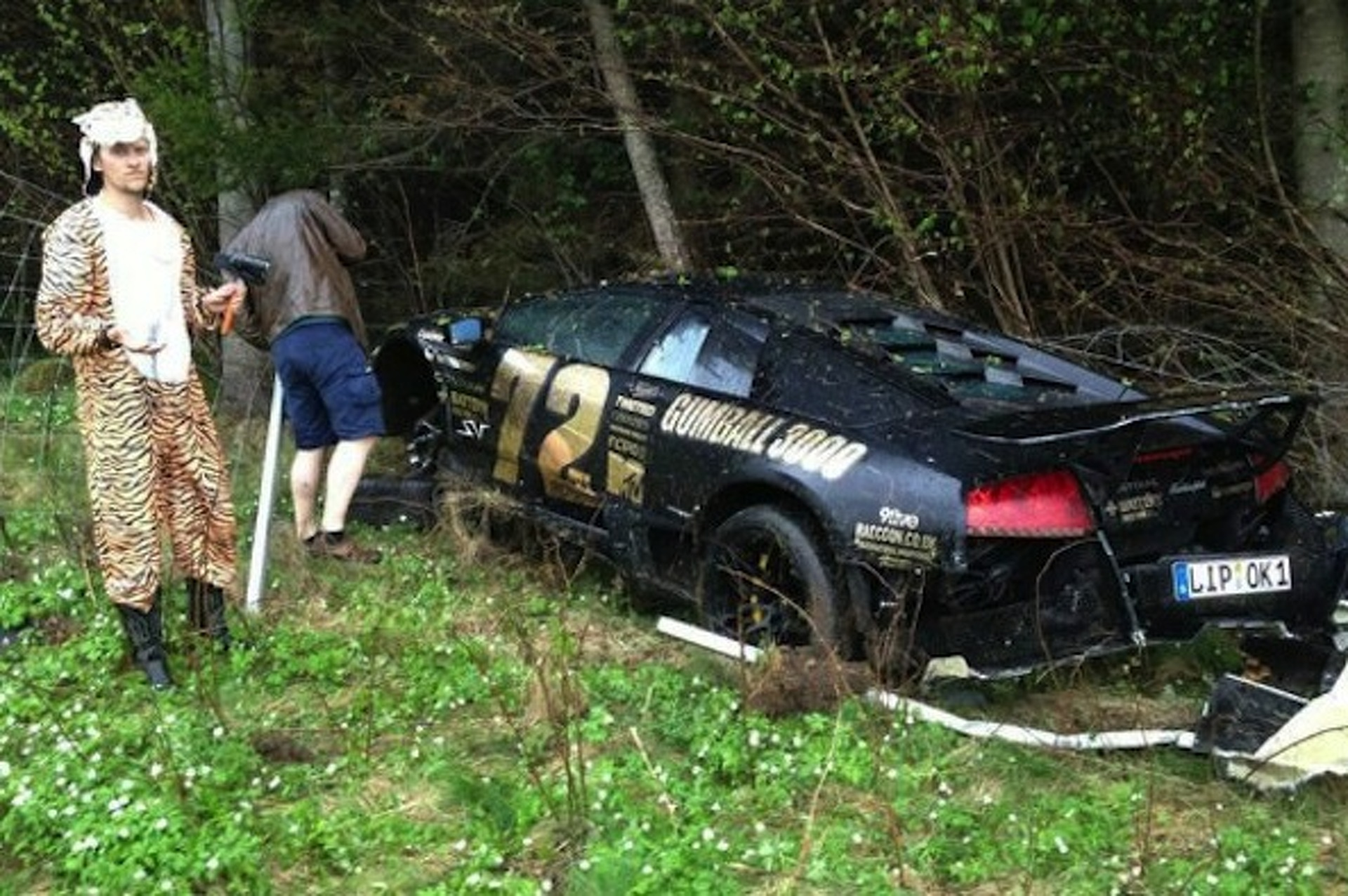 Gumball 3000: Some Tiger Crashed His Lamborghini Murcielago SV
