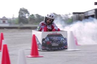 Watch Ken Box on his Crazy Cart Spoof Gymkhana