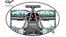 Mercedes W07 airbox details
