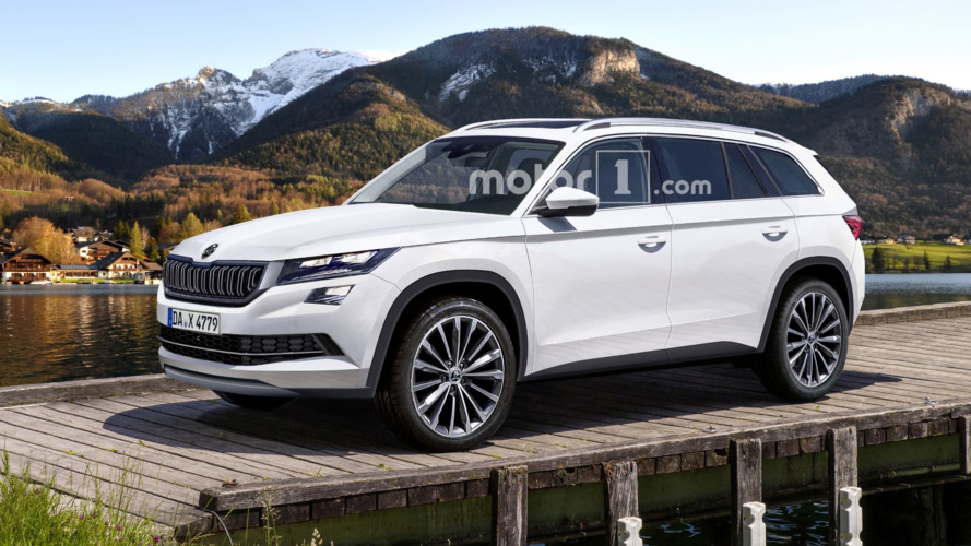 Skoda Kodiaq rendered & spied on the Nürburgring