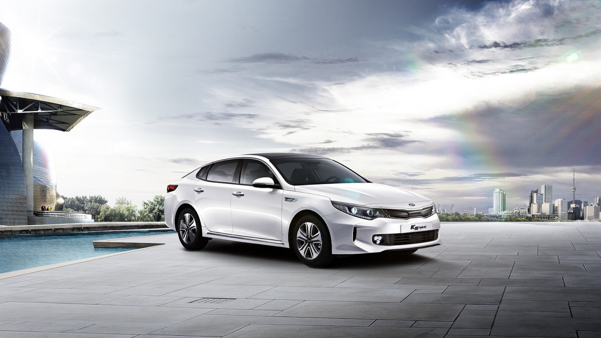 2016 kia optima hybrid launched in south korea video. Black Bedroom Furniture Sets. Home Design Ideas
