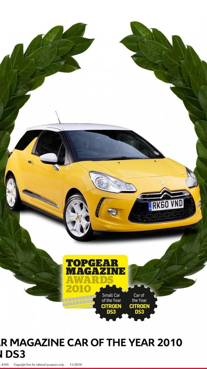 DS3 wins Top Gear magazine Car of the Year 01.12.2010