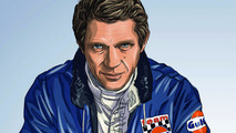 Steve McQueen in Le Mans graphic novel