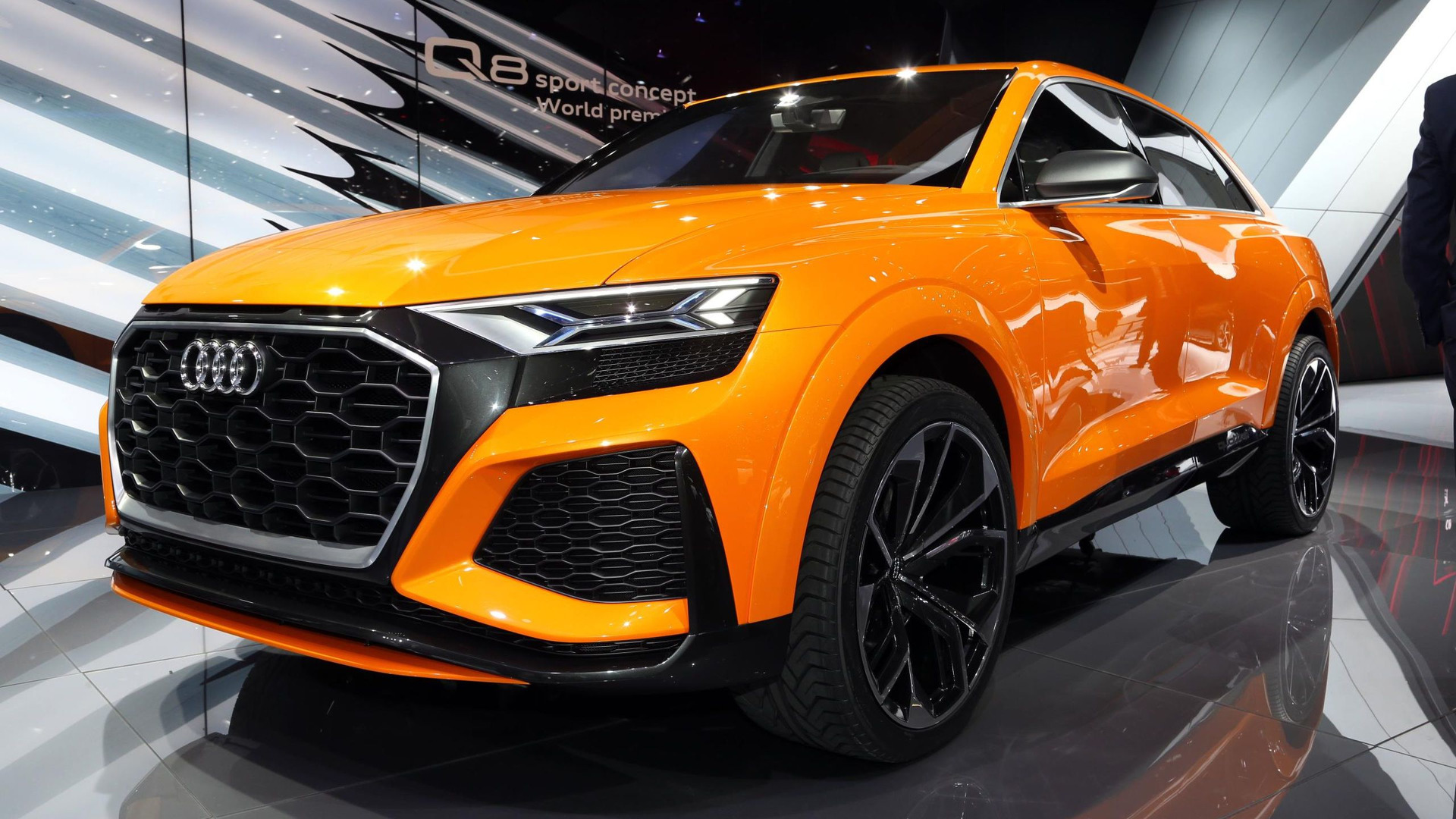 audi q8 sport concept previews brand 39 s flagship performance suv. Black Bedroom Furniture Sets. Home Design Ideas