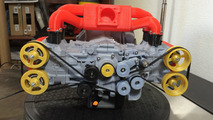 Subaru EJ20 made in a 3D printer is a fully functional model