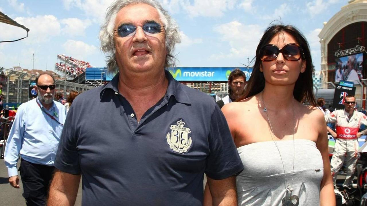Flavio Briatore (ITA) with Elisabetta Gregoraci (ITA), Wife of Flavio Briatore (ITA), European Grand Prix, 27.06.2010 Valencia, Spain