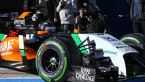 Faltering start to first Formula 1 test of 2014