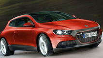 New VW Scirocco Spied on the Road