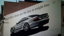 Mercedes SL65 AMG Black Series Clever Outdoor Adverts