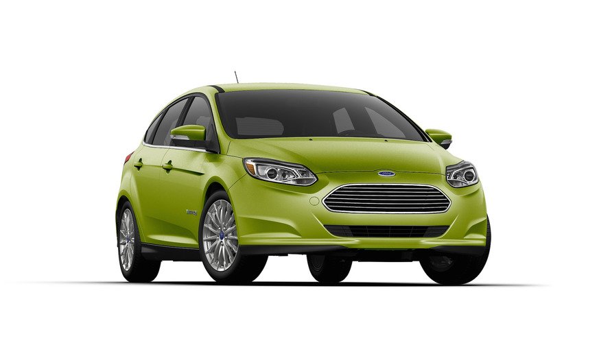Ford Focus Electric gets gaudy green paint job for St. Patrick's Day