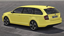 Skoda MissionL combi wagon rendered