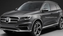 Borgward BX7 rendered with front grilles from six other automakers