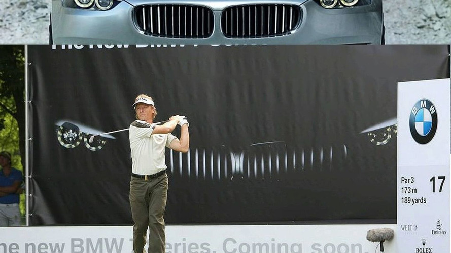 BMW 7 Series Teaser Poster Displayed at Golf Tournament