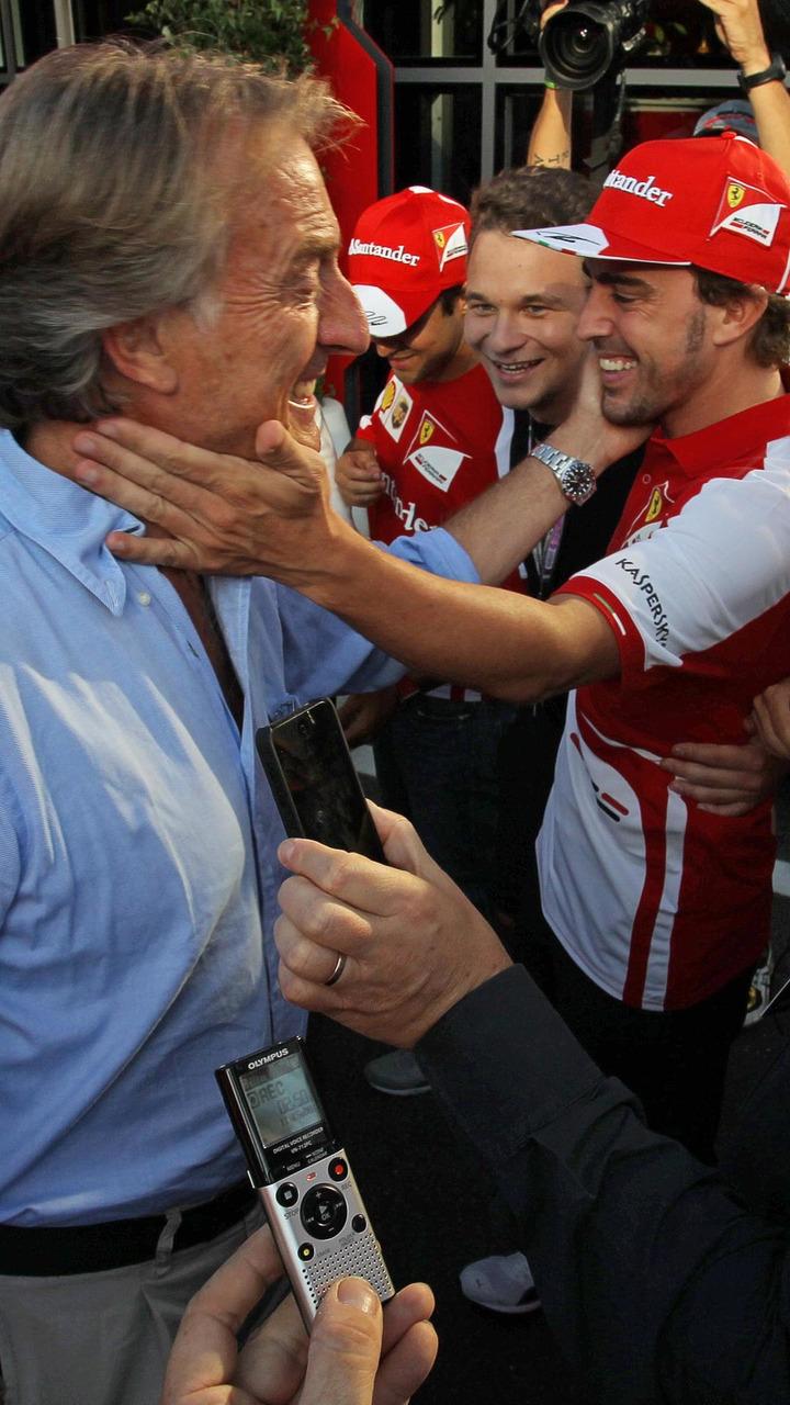 Luca di Montezemolo with Fernando Alonso 07.09.2013 Italian Grand Prix