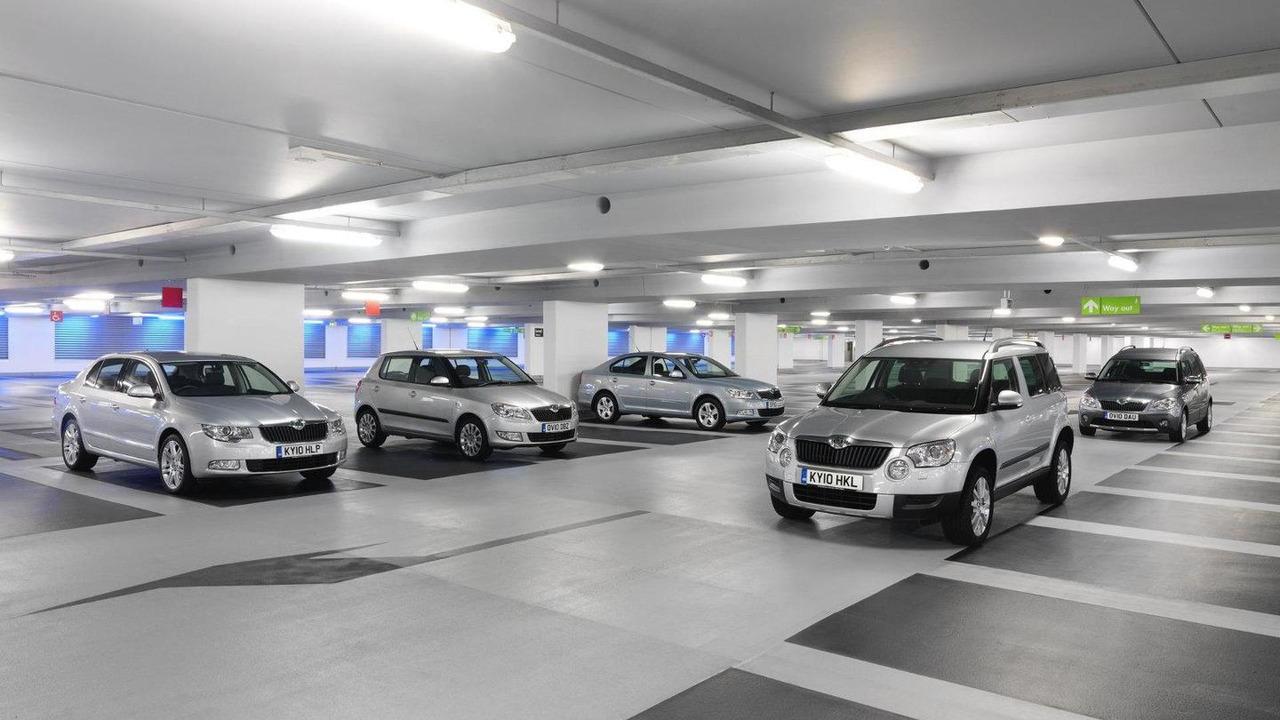 Skoda model range at the 2011 Geneva Motor Show 22.02.2011