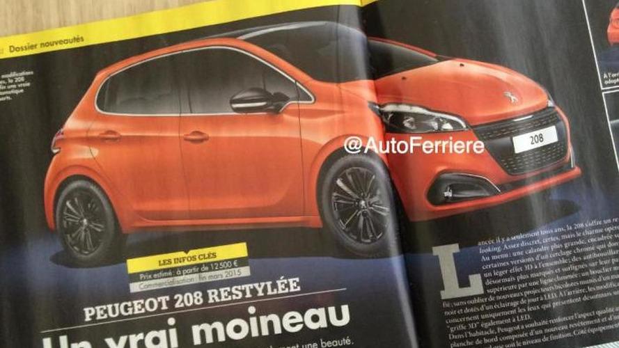 Alleged Peugeot 208 facelift image leaked