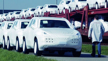 Porsche Cayenne shipped by rail