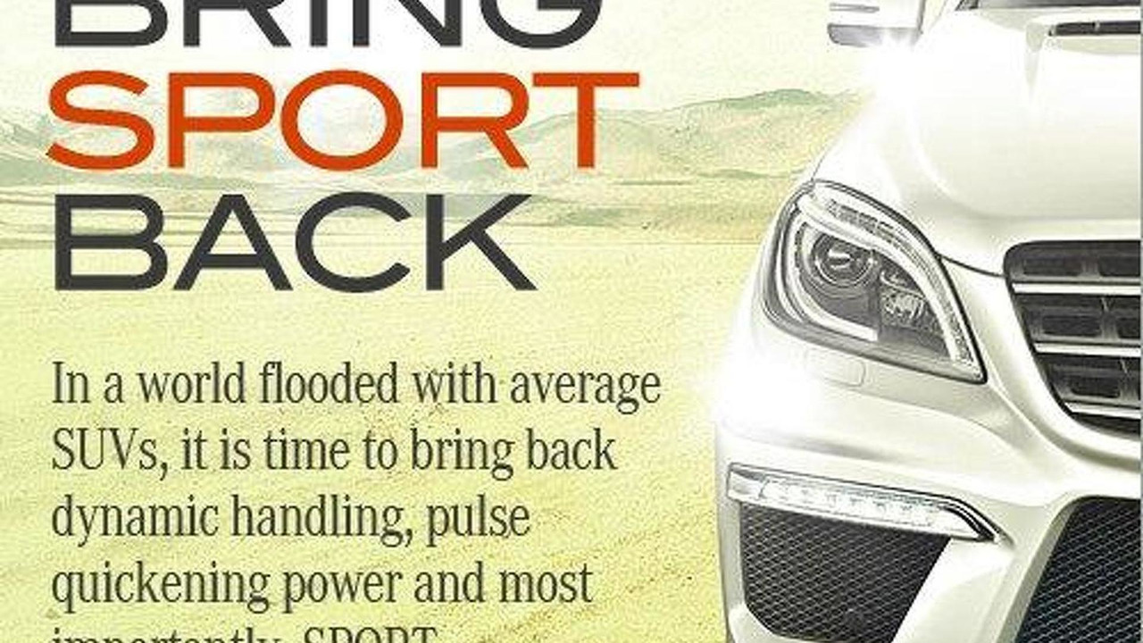 Mercedes ML63 AMG teaser image - 10.11.2011