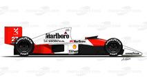 1990 - McLaren MP4/5B