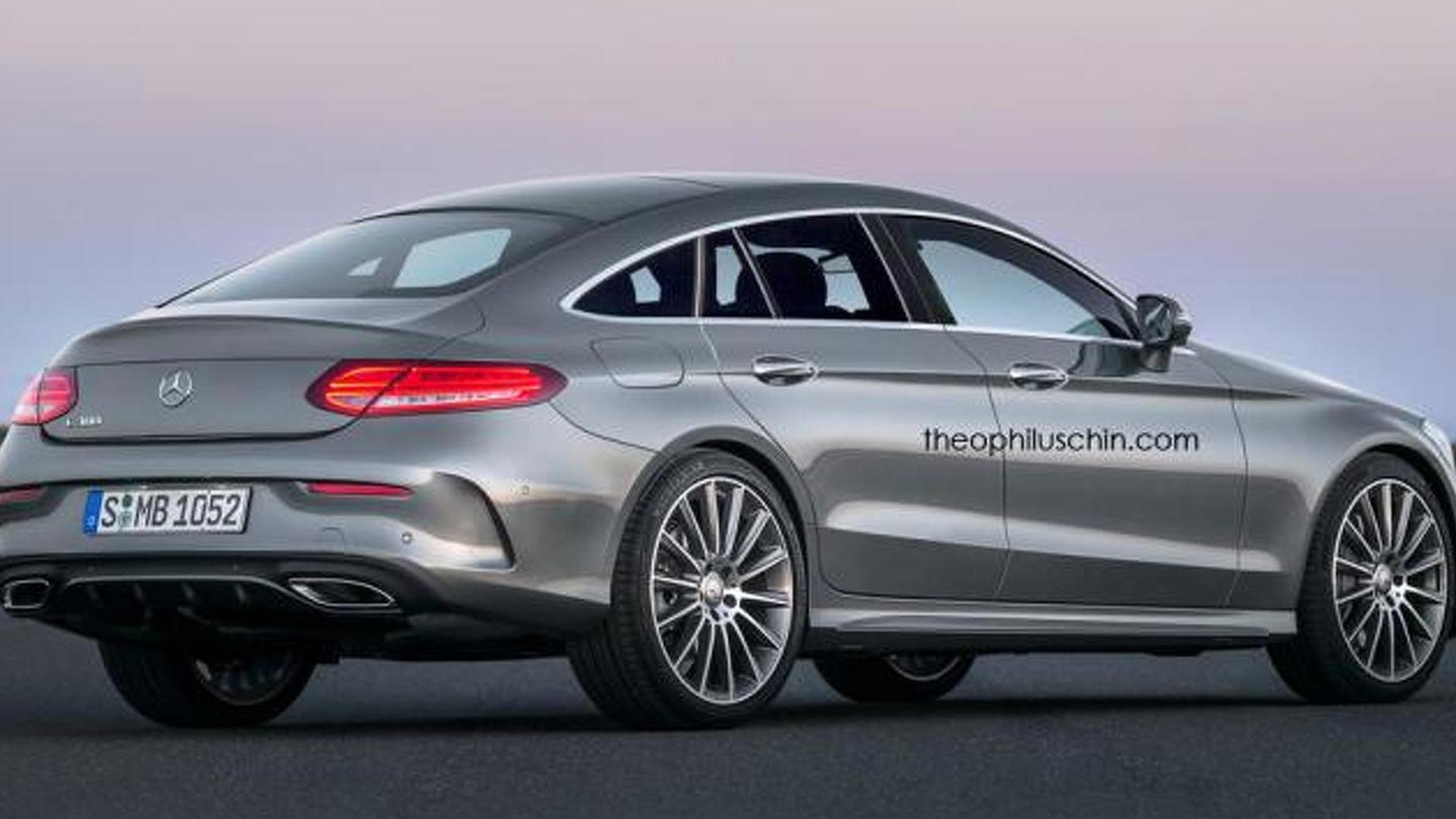 mercedes benz clc four door coupe rendered based on c