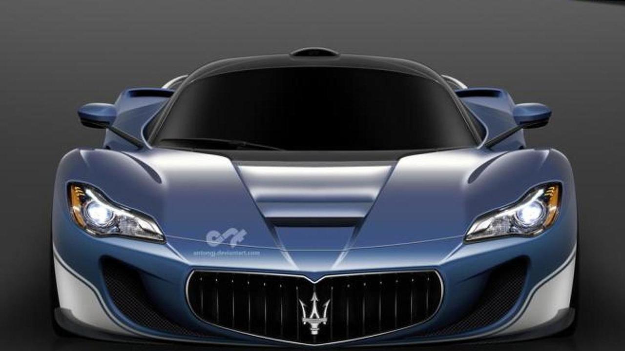LaFerrari-based Maserati supercar render / Anton Gjorsev
