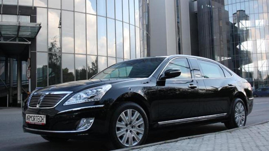 Hyundai Equus Limousine Security heading to Moscow Motor Show