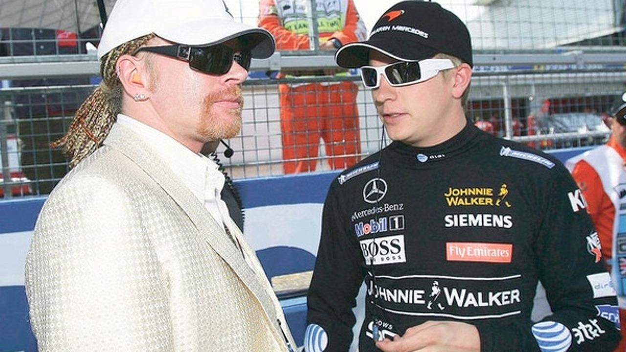 Axl Rose and Kimi Räikkönen