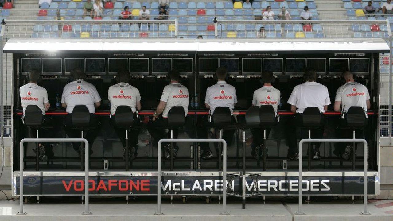 McLaren Mercedes management team at Bahrain grand prix 2009