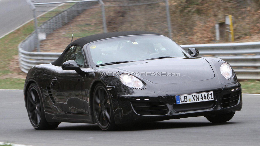 2012 Porsche Boxster spied testing on the Nordschleife