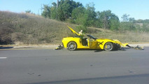 This is the first recorded customer-owned Chevrolet Corvette Stingray crash