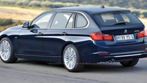 2013 BMW 3-Series wagon estate variant artist rendering 22.02.2012