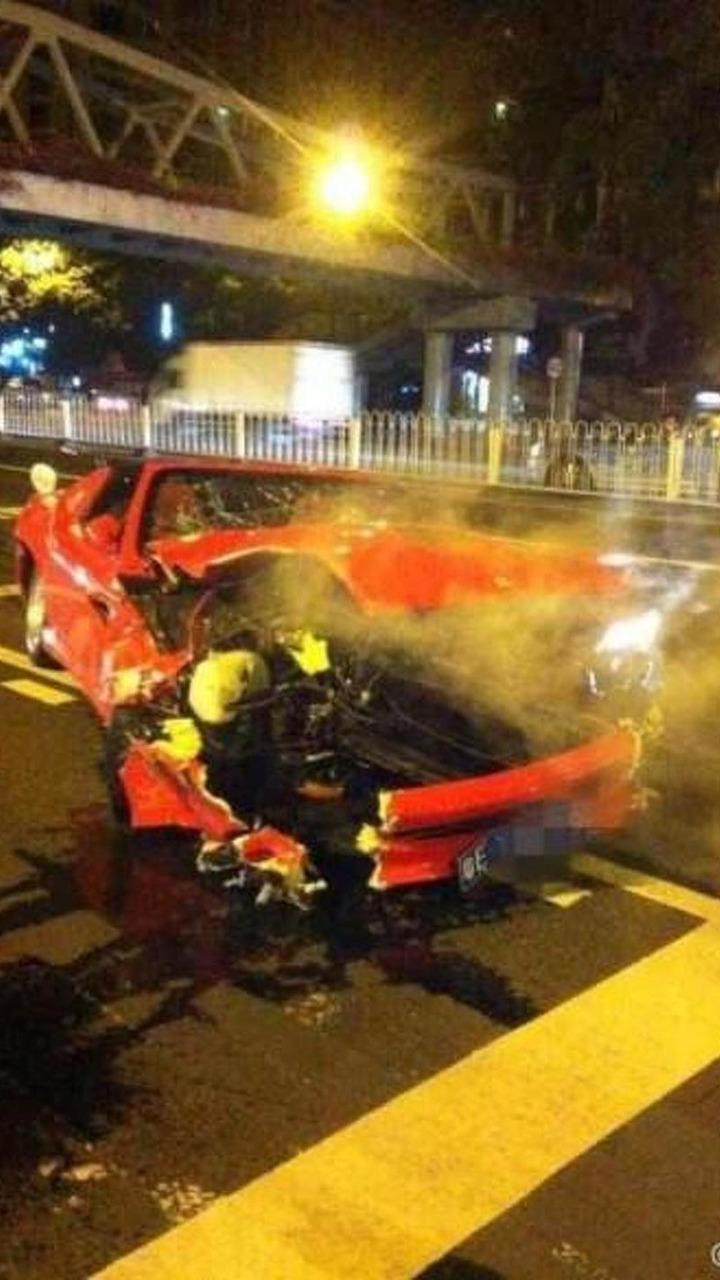 Wrecked Ferrari 575M Superamerica