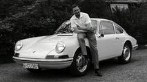 Ferdinand Alexander Porsche (1963) in front of a Porsche 901