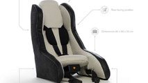 Volvo introduces inflatable child seat concept [video]