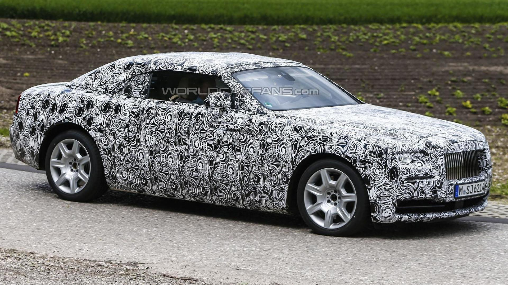 Rolls-Royce Wraith Drophead Coupe spied for a second time