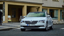 New Skoda Superb spotted in Prague