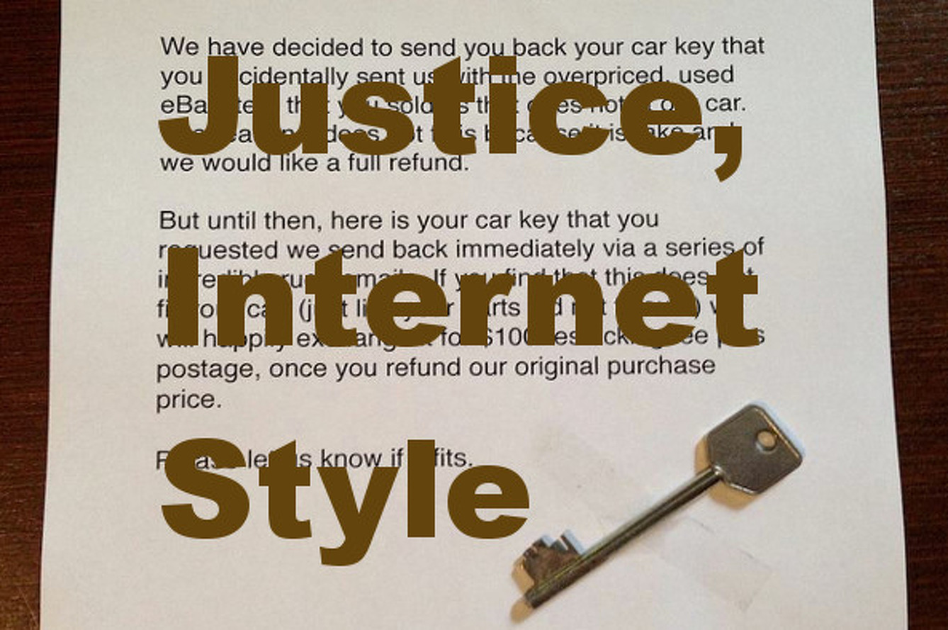 Internet Justice: Garage Sends Skeleton Key to eBay Dicks