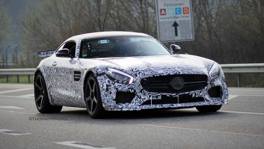 High-performance Mercedes-AMG GT spied again