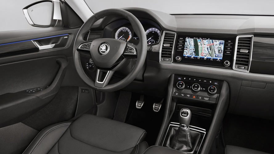 Skoda Kodiaq shows its hugely spacious interior