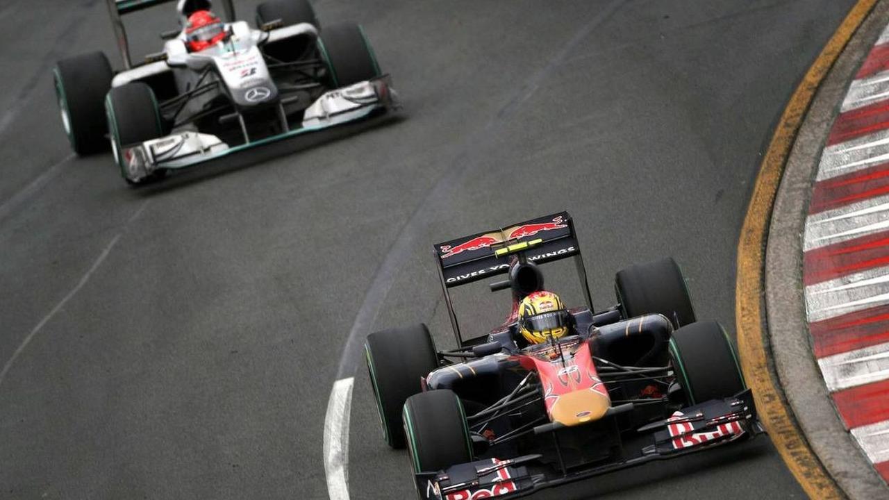 Jaime Alguersuari (ESP), Michael Schumacher (GER), Australian Grand Prix, 28.03.2010 Melbourne, Australia