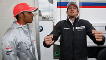 Button plays down fears of Hamilton rivalry