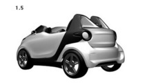 Smart ForTwo roadster revealed in patent application