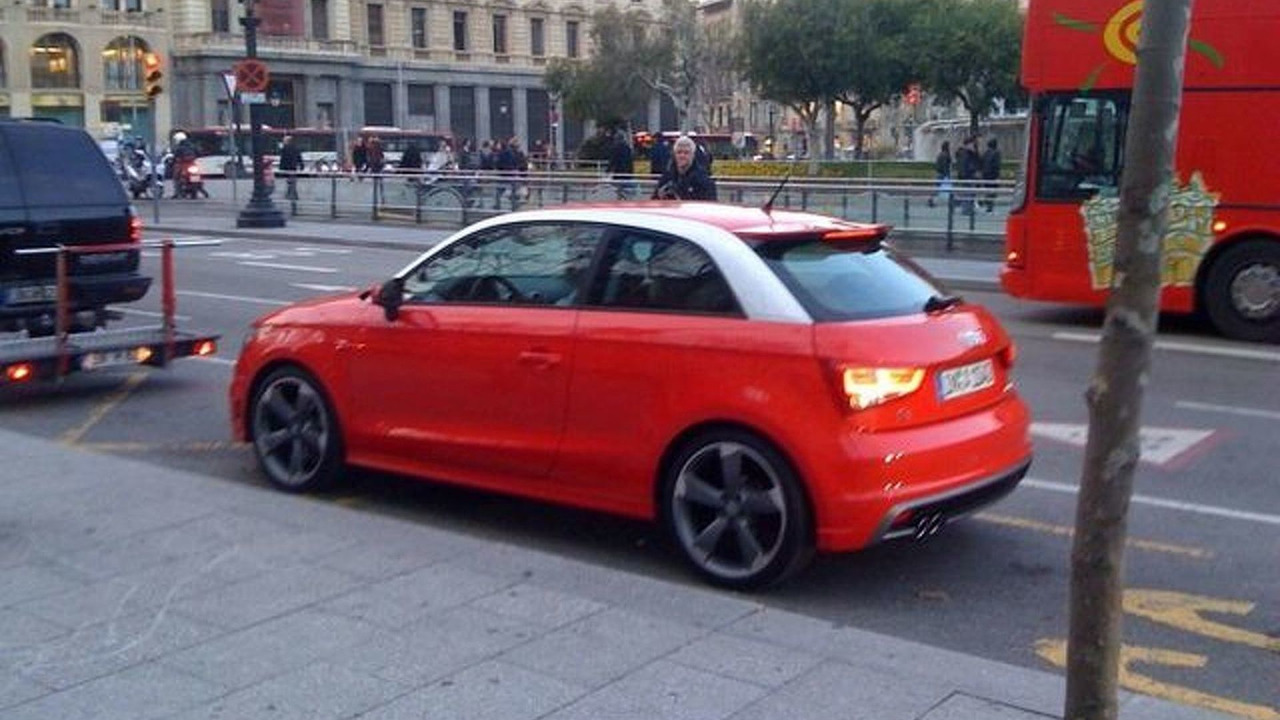 Audi A1 spy photo, Barcelona, Spain - 19.02.2010