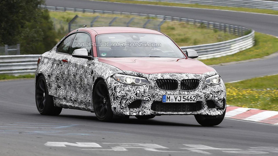 BMW M2 spied testing on the 'Ring [video]