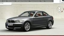 BMW 1-Series Coupé Configurator Goes Live