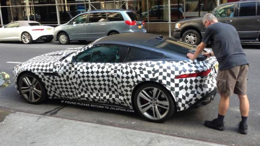 Jaguar F-Type Coupe caught making a pit stop [video]