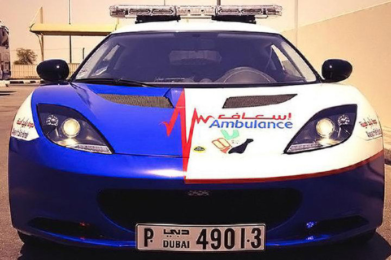 Dubai Paramedics Get Jealous; Buy a Lotus and Mustangs